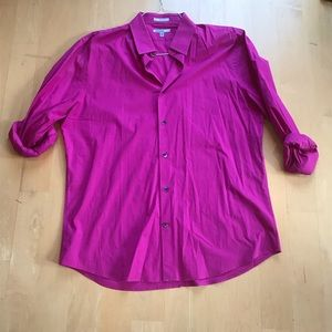 Express 1MX Fitted Button Down Large, casual shirt